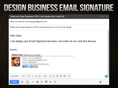 Design and Create Responsive HTML Email Signature from scratch fully tested