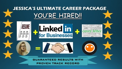 Write a Complete Career Package; Resume, LinkedIn and Cover Letter