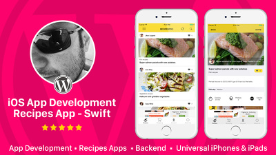 Design and Develop Recipes app for iOS native app
