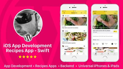 design and Develop Recipes app for iOS native app