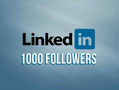 Provide You 1000 Linkedin Follower to your LinkedIn company page