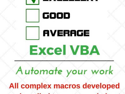 Develop Excel Macro to automate your work with a click