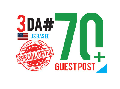 I will provide 3 Guest Post on DA70 plus General site