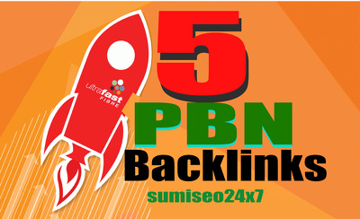 Get 5 Unique High Tf Cf Da Pa 25+ Dofollow Homepage PBN Backlinks