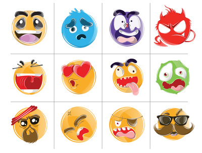 Design 5 creative and cool emoji