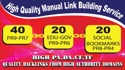 Create 80 PR9-PR6 Backlinks From High Authority Websites