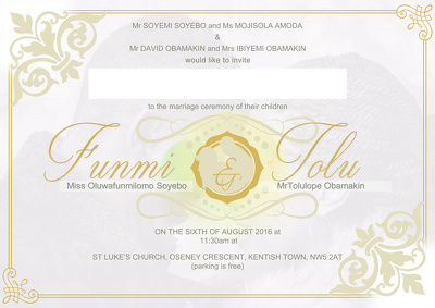 Design an invite card for your wedding