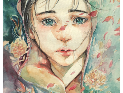Create a wonderful water color portrait painting