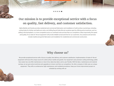 Create homepage website design