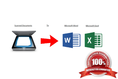 Convert 35 pages of scanned files into Microsoft word or excel