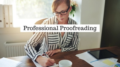 Accurately proofread up to 5000 word documents, websites and online material