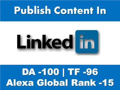 Write & Publish 1000 words Content on Linkedin.Com