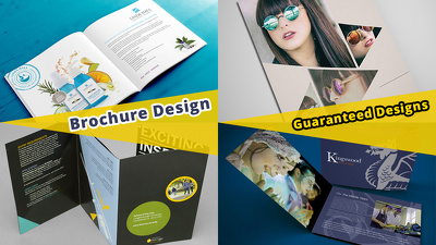 Design a professional Landscape - portrait brochure A4/A5 or any size
