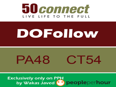 Write & Publish a guest post on 50connect.co.uk  (DA 38, PA 48) with Dofollow Link
