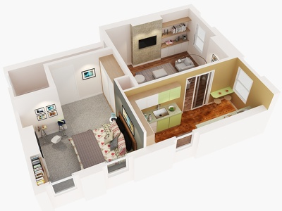 Provide 3D Floorplan  Fully Furnished