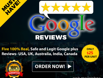 Five 100 % Real, Safe and Legit Google plus Reviews- USA, UK, Australia, India,Canada