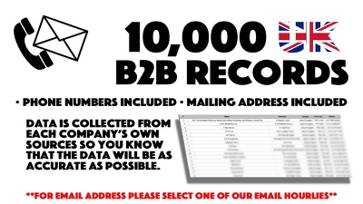 Deliver 10,000 UK B2B Phone Numbers To Help Maximise Your Marketing Strategy