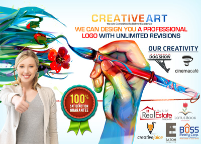 Design you a premium pro professional logo with unlimited revisions