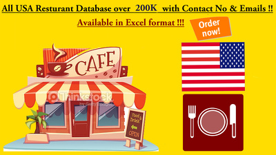 provide USA restaurant database with Emails & contact no. in excel format