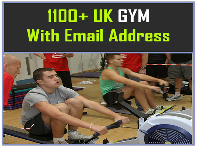 Send for you 1100 plus UK GYM emails or Contact list