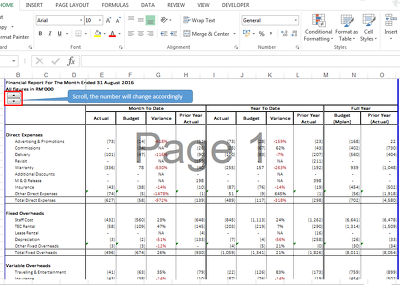 Create automated excel template.