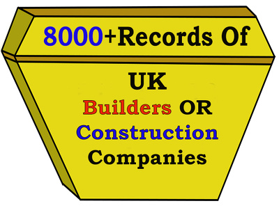 8000 records of UK builders or Construction Companies contacts with email list