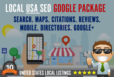 USA Local SEO links - Complete Google LOCAL Business Package Link Building