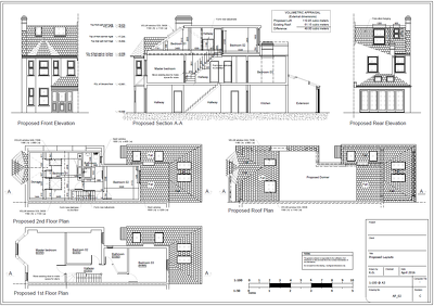 Full set of drawings for Planning application (extension/loft)