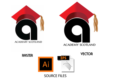 Convert/ redraw & trace your raster logo or graphics and deliver vector file