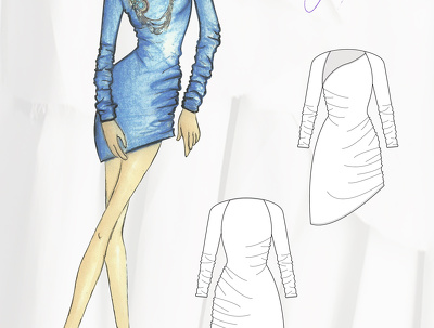 Develop a technical drawing for apparel production from your sketch or photo