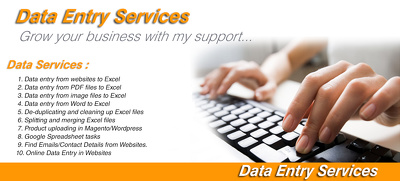 Do all typs of data entry work in 1 hour