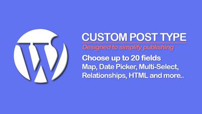 Setup a new custom WordPress post type and fields