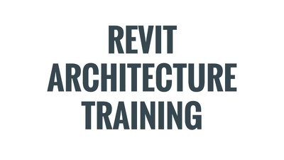 Train 4 members of your staff, Revit Architecture within your office in 2 days