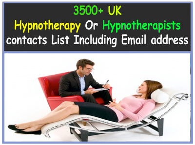 Send you UK hypnotherapy Or Hypnotherapists contacts list included email address