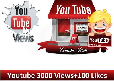 Get you 2500 to 3000 High Retention Youtube Video Views and 200 Likes in 24 Hours