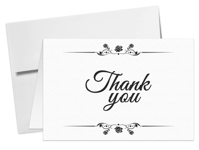 Design Professional thank you cards