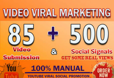 Manually make Video submission on 85 video sharing sites PR 9 to 4