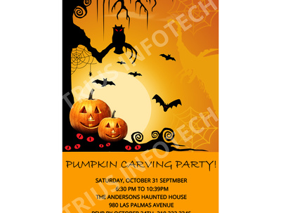 DESIGN CUSTOM 1 INVITATION OR 2 BANNERS FOR HALLOWEEN OR CHRISTMAS PARTY