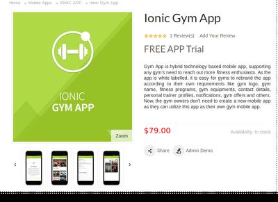Create a Ionic Gym App
