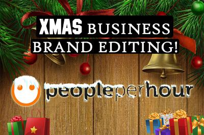 Makeover your business brand logo/menu/cover for Christmas
