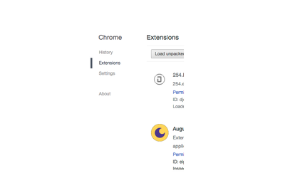 Create a single page chrome extension or app for your app