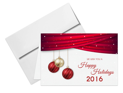 Design very nice Holiday cards with creative effects.