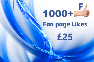 Boost your Fan page ranking by adding more than 1,000 + real Fan page likes
