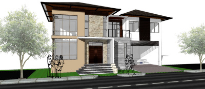 Provide any architectural projects (Interior & Exterior) in Sketchup