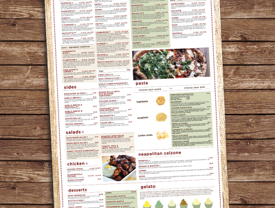 Design you a professional and beautiful menu