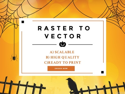 Convert / Redraw existing raster logo to vector logo format