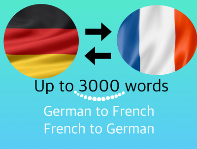 Translate GERMAN to FRENCH document, manual, text, article