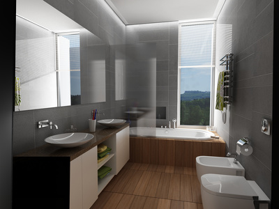 Design and render your bathroom in 3Dstudio Max ,Vray and Photoshop