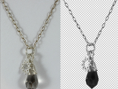 Remove the background from up to 10 photographs of people or jewellry objects