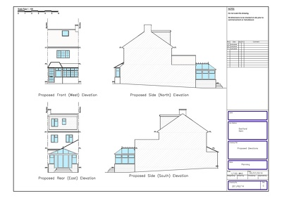 Create planning application drawings